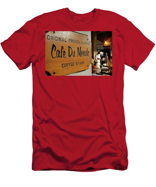 Men's T-Shirt (Slim Fit) featuring the photograph Cafe Du Monde by KG Thienemann