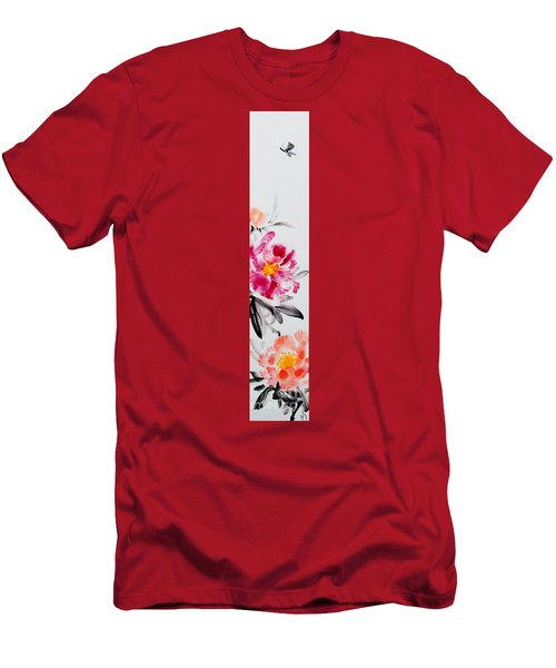 Camellia And Butterfly Men's T-Shirt (Athletic Fit)