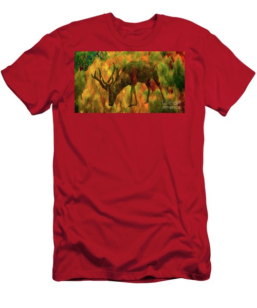 Camouflage Deer Men's T-Shirt (Athletic Fit)