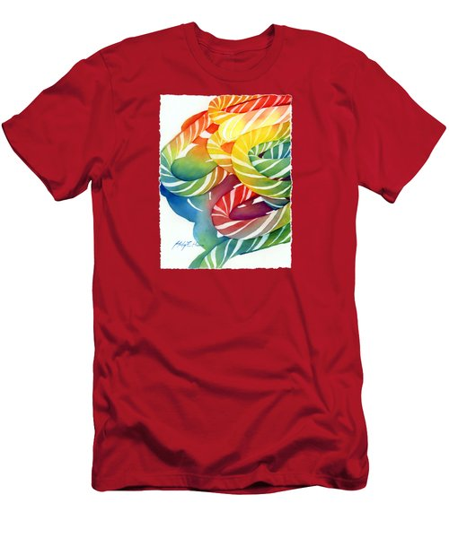 Candy Canes Men's T-Shirt (Slim Fit) by Hailey E Herrera
