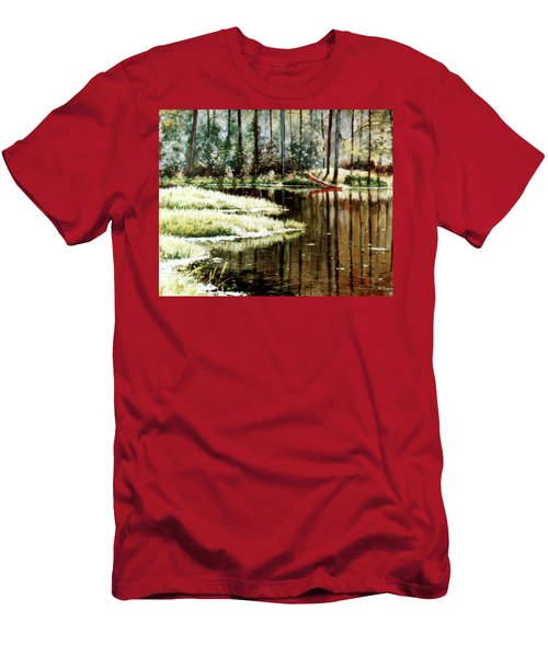 Canoe On Pond Men's T-Shirt (Athletic Fit)