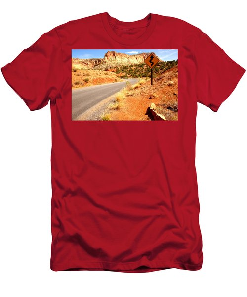 Men's T-Shirt (Slim Fit) featuring the photograph Capitol Curves Ahead by Adam Jewell