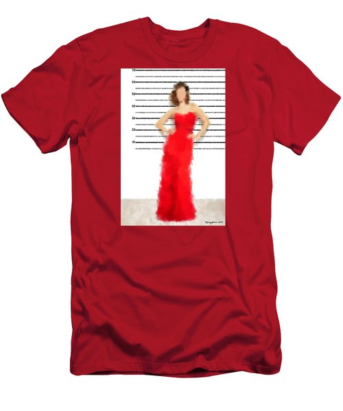 Men's T-Shirt (Slim Fit) featuring the digital art Carmela by Nancy Levan
