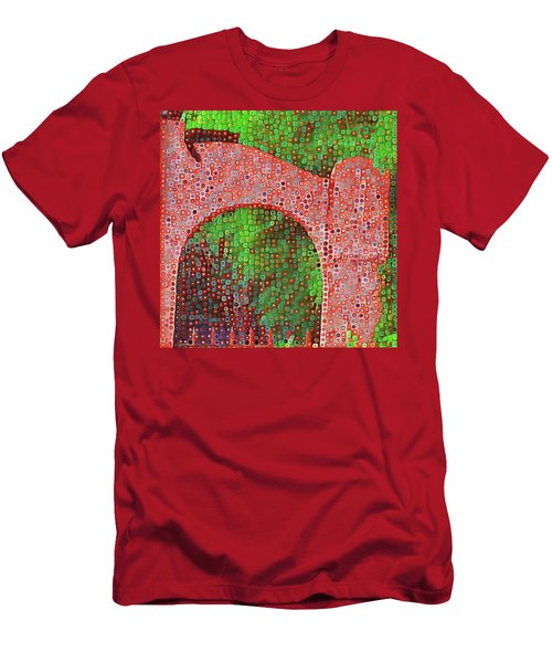 Cat On Enfield Men's T-Shirt (Athletic Fit)