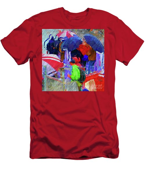 Caught In A Shower Men's T-Shirt (Athletic Fit)