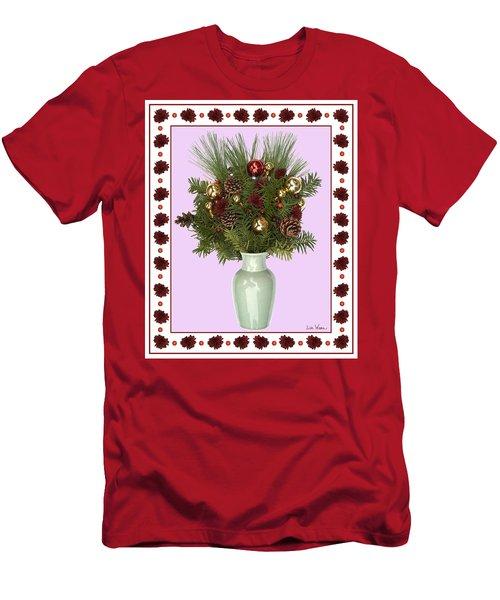 Celadon Vase With Christmas Bouquet Men's T-Shirt (Athletic Fit)