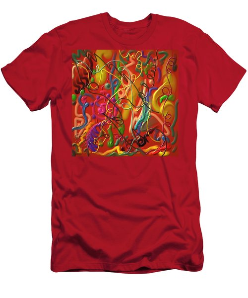 Men's T-Shirt (Slim Fit) featuring the painting Celebrate The Moment by Kevin Caudill