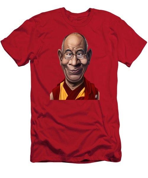 Celebrity Sunday - Dalai Lama Men's T-Shirt (Athletic Fit)