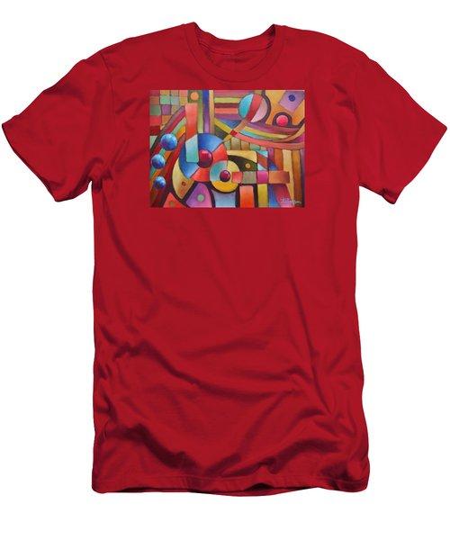 Cerebral Decor # 5 Men's T-Shirt (Slim Fit) by Jason Williamson