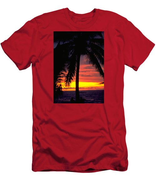 Champagne Sunset Men's T-Shirt (Slim Fit) by Travel Pics