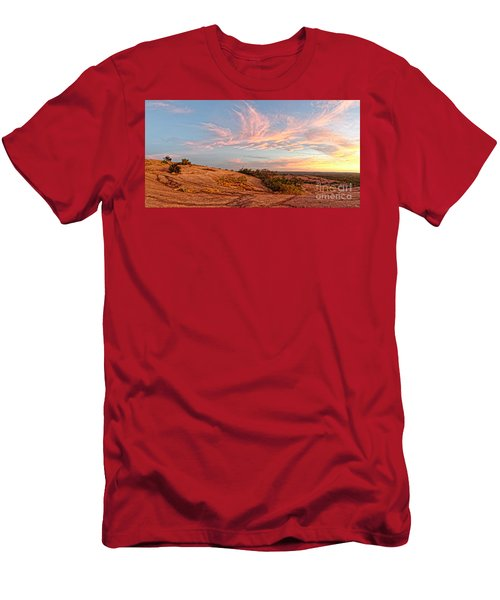Chasing Angels Of Light Over Enchanted Rock - Fredericksburg Texas Hill Country Men's T-Shirt (Athletic Fit)