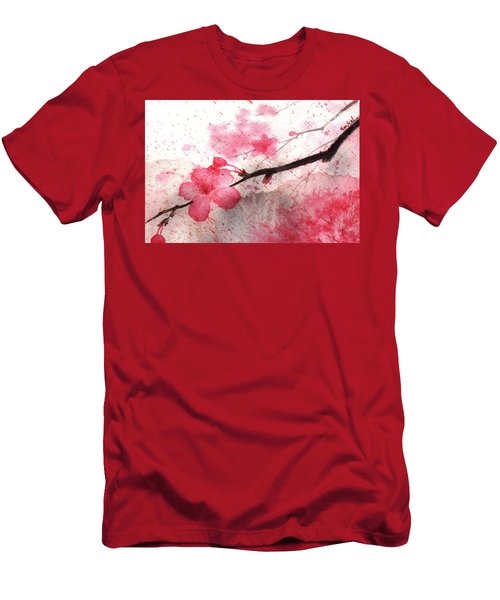 Cherry Blossoms 1 Men's T-Shirt (Athletic Fit)