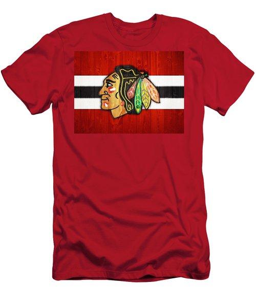 Chicago Blackhawks Barn Door Men's T-Shirt (Athletic Fit)
