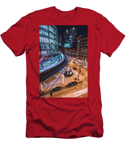 Chicago S Train Men's T-Shirt (Athletic Fit)