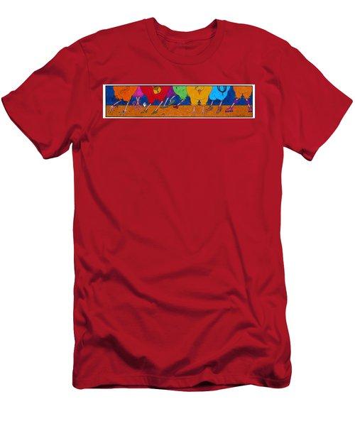 Chicken Walk Men's T-Shirt (Athletic Fit)