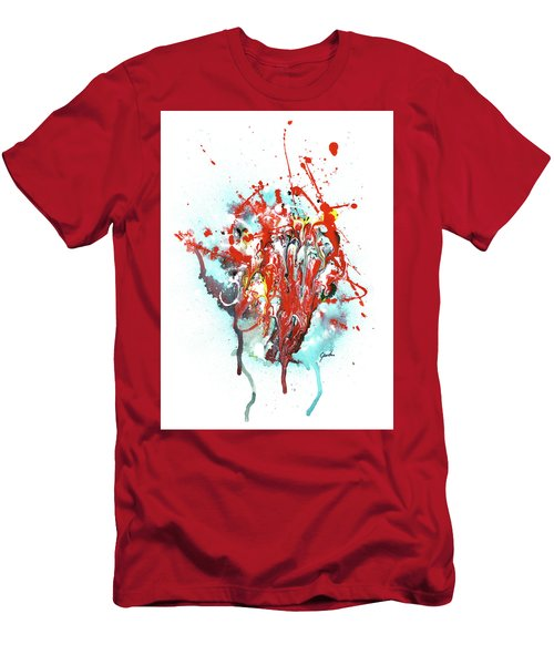 Children Of Light - Colorful Bright Read And Blue Abstract Art Painting Men's T-Shirt (Athletic Fit)