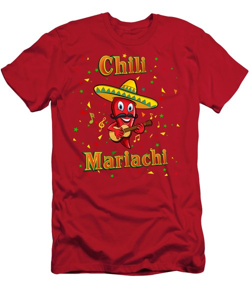 Chili Mariachi Men's T-Shirt (Athletic Fit)