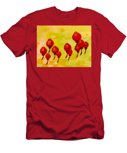 Chinese Lanterns Men's T-Shirt (Athletic Fit)