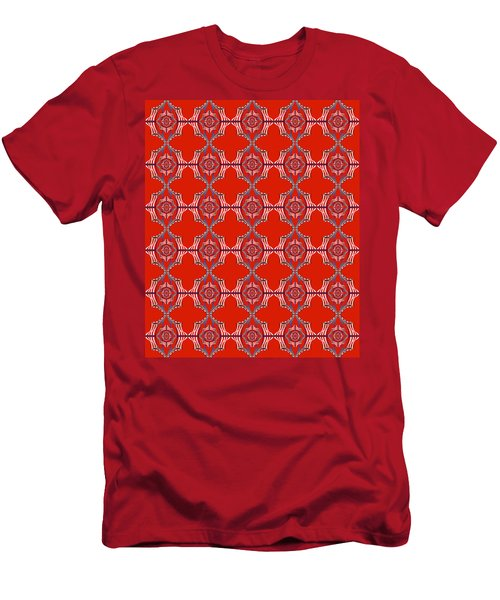 Chock A Block Red Men's T-Shirt (Athletic Fit)