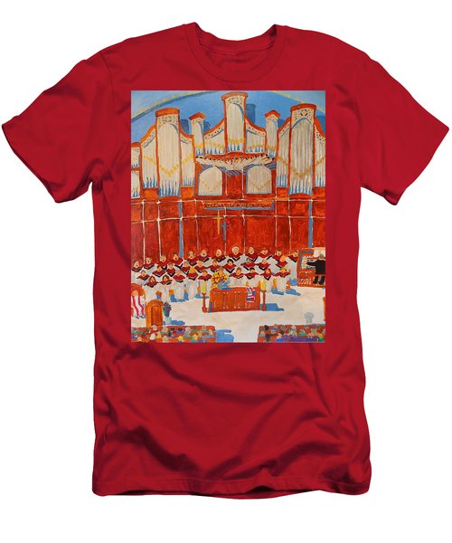 Choir And Organ Men's T-Shirt (Slim Fit) by Rodger Ellingson