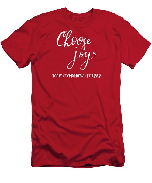 Choose Joy Men's T-Shirt (Slim Fit) by Nancy Ingersoll