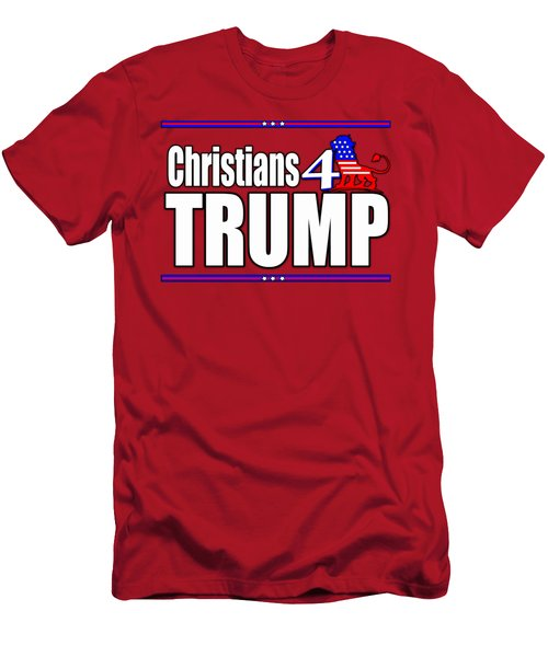 Christians 4 Trump Men's T-Shirt (Athletic Fit)