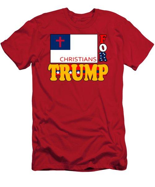 Christians For Trump Men's T-Shirt (Athletic Fit)