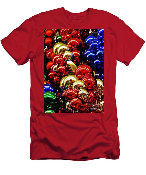 Christmas Abstract 14 Men's T-Shirt (Slim Fit) by Sarah Loft