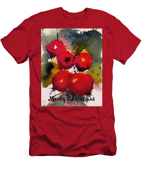 Christmas Berries Men's T-Shirt (Athletic Fit)