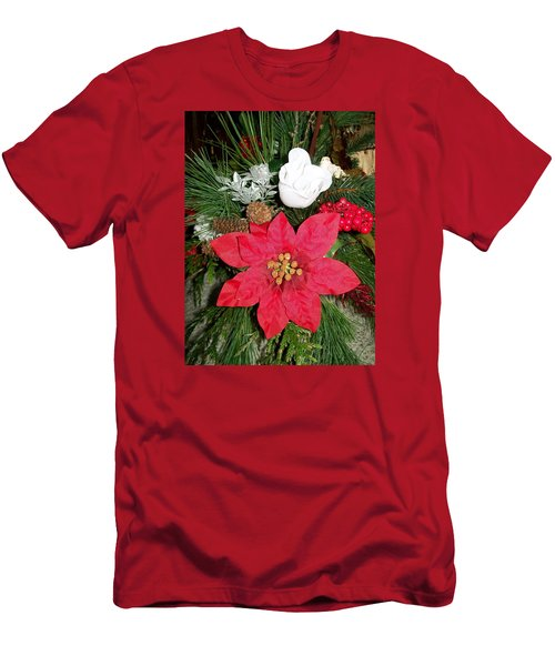 Men's T-Shirt (Slim Fit) featuring the photograph Christmas Centerpiece by Sharon Duguay