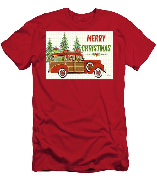 Christmas Cheer-greeting Card Men's T-Shirt (Athletic Fit)