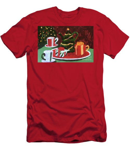 Christmas Holiday Men's T-Shirt (Slim Fit) by Donald J Ryker III