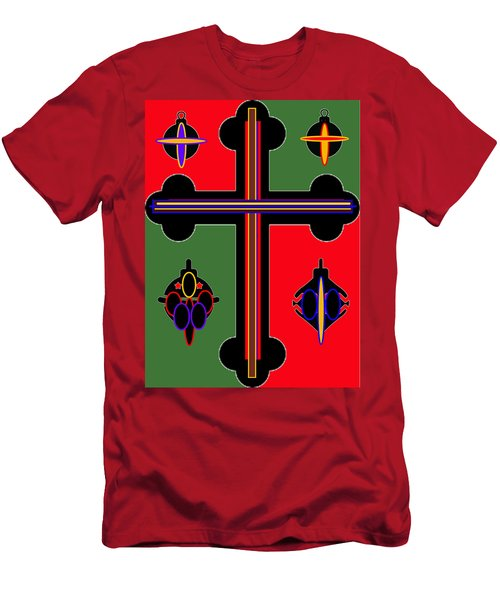 Christmas Ornate 1 Men's T-Shirt (Athletic Fit)