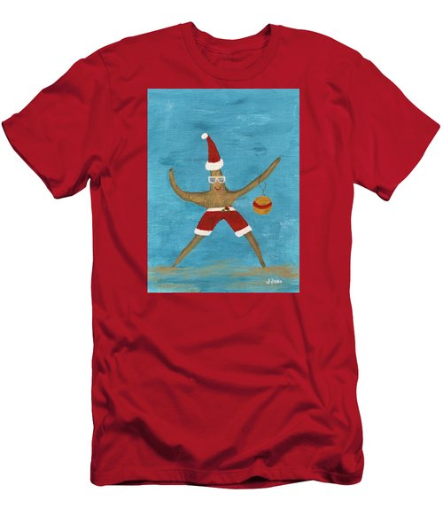 Christmas Starfish Men's T-Shirt (Athletic Fit)