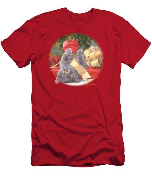 Christmas Surprise Men's T-Shirt (Slim Fit) by Lucie Bilodeau