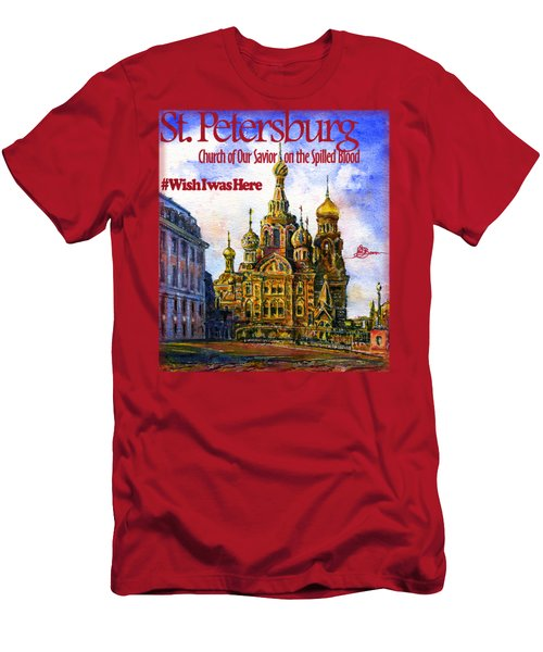 Church Of Our Savior On Spilled Blood Men's T-Shirt (Athletic Fit)