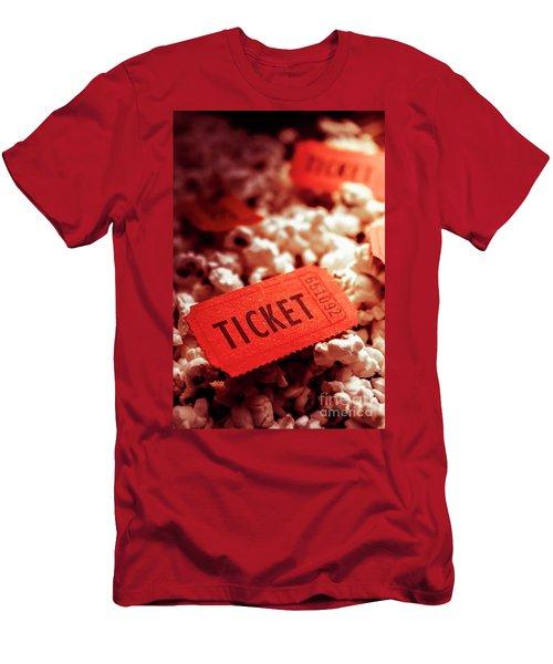 Cinema Ticket On Snackbar Food Men's T-Shirt (Athletic Fit)