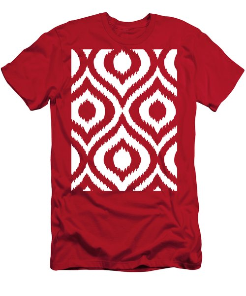 Circle And Oval Ikat In White T02-p0100 Men's T-Shirt (Athletic Fit)