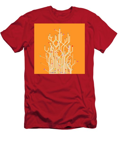 Circuit Board Graphic Men's T-Shirt (Athletic Fit)