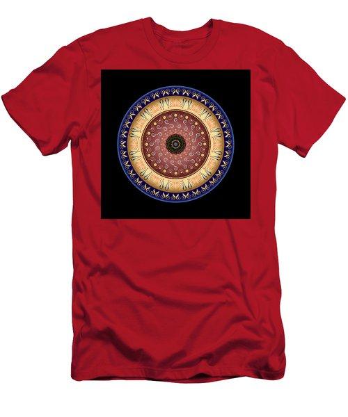 Men's T-Shirt (Slim Fit) featuring the digital art Circularium No 2646 by Alan Bennington