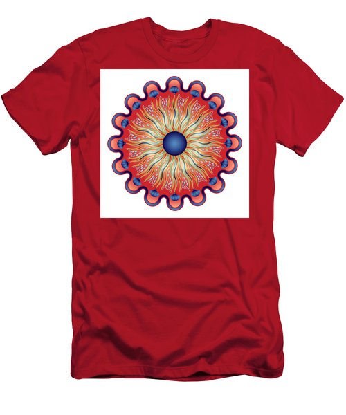 Men's T-Shirt (Slim Fit) featuring the digital art Circularium No 2664 by Alan Bennington