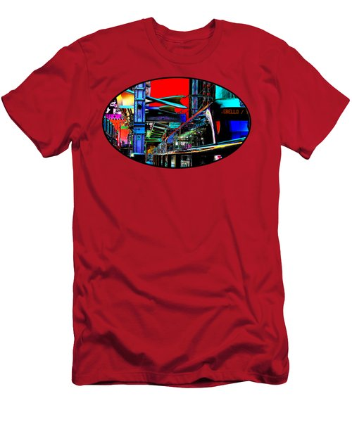 Men's T-Shirt (Slim Fit) featuring the photograph City Tansit Pop Art by Phyllis Denton