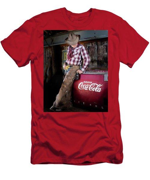 Classic Coca-cola Cowboy Men's T-Shirt (Athletic Fit)