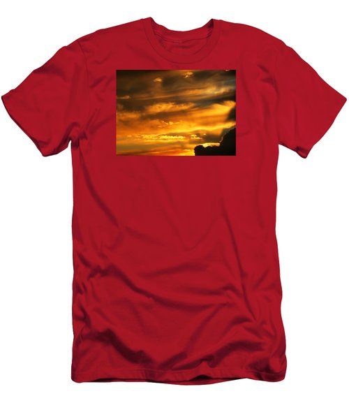 Clouded Sunset Men's T-Shirt (Slim Fit) by Kyle West