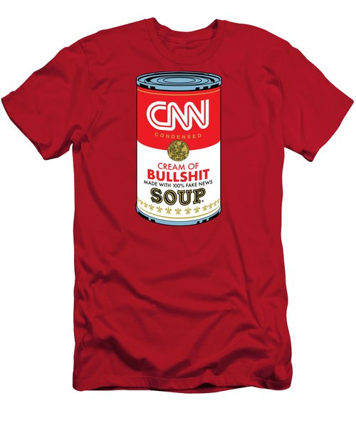 Cnn Soup Can Men's T-Shirt (Athletic Fit)