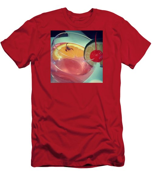 Cocktail With A Bite Men's T-Shirt (Slim Fit)