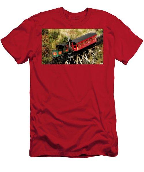 Cog Railway Vintage Men's T-Shirt (Athletic Fit)