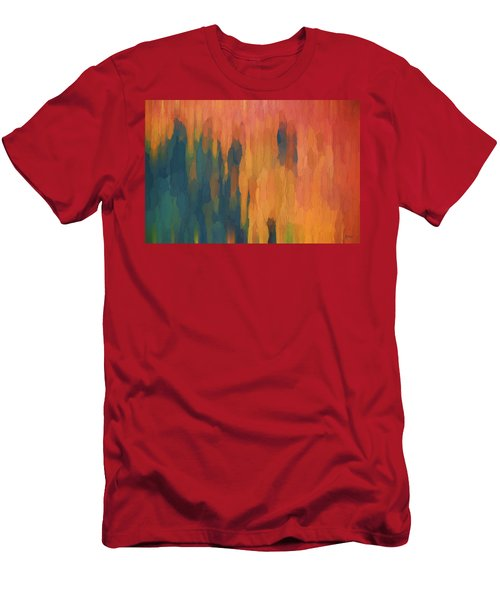 Color Abstraction Xlix Men's T-Shirt (Slim Fit) by David Gordon