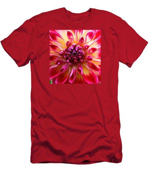 Color Burst Dahlia  Men's T-Shirt (Athletic Fit)