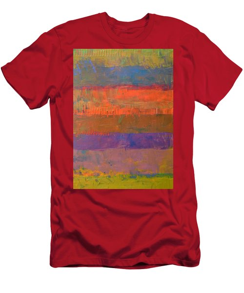 Men's T-Shirt (Slim Fit) featuring the painting Color Collage Two by Michelle Calkins